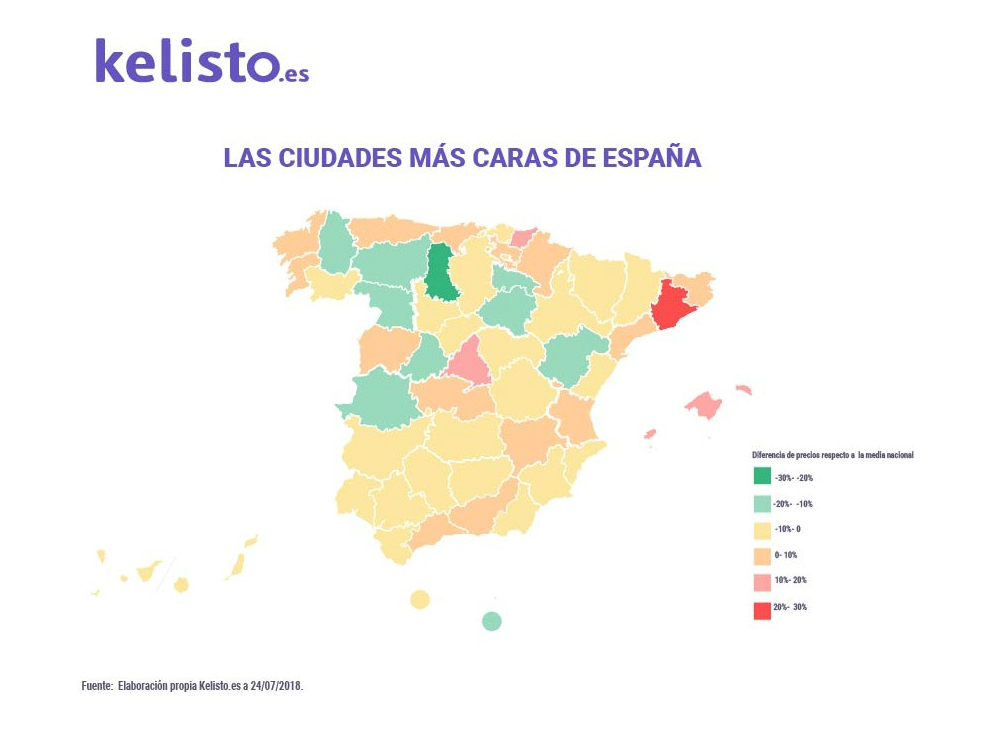 Las ciudades españolas más caras para vivir